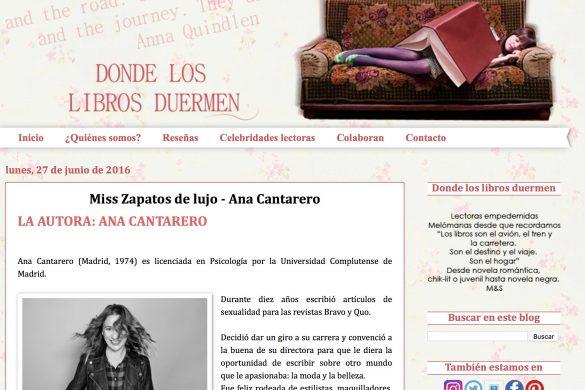 Reseña de Miss Zapatos de Lujo en el blog Donde los libros duermen