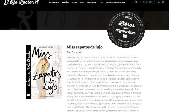 Reseña de Miss Zapatos de Lujo en el Blog El Ojo Lector