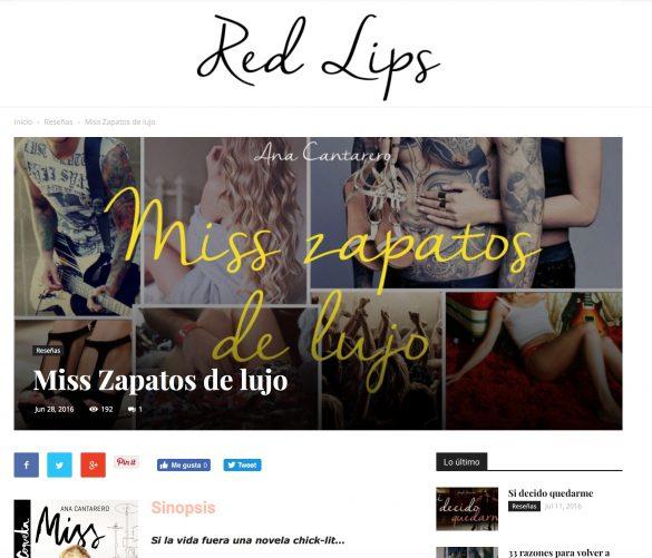 Reseña de Miss Zapatos de Lujo en el blog El Cajón de Red Lips