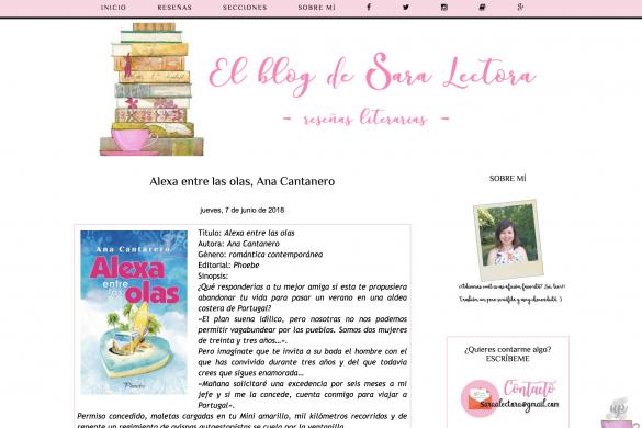 Reseña Alexa Entre las OlasEl blog de Sara lectora