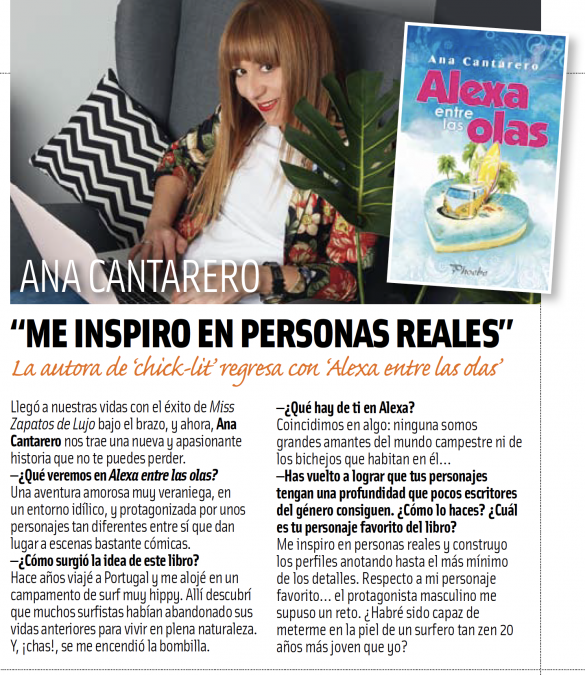 Entrevista a Ana Cantarero en la revista Cuore.
